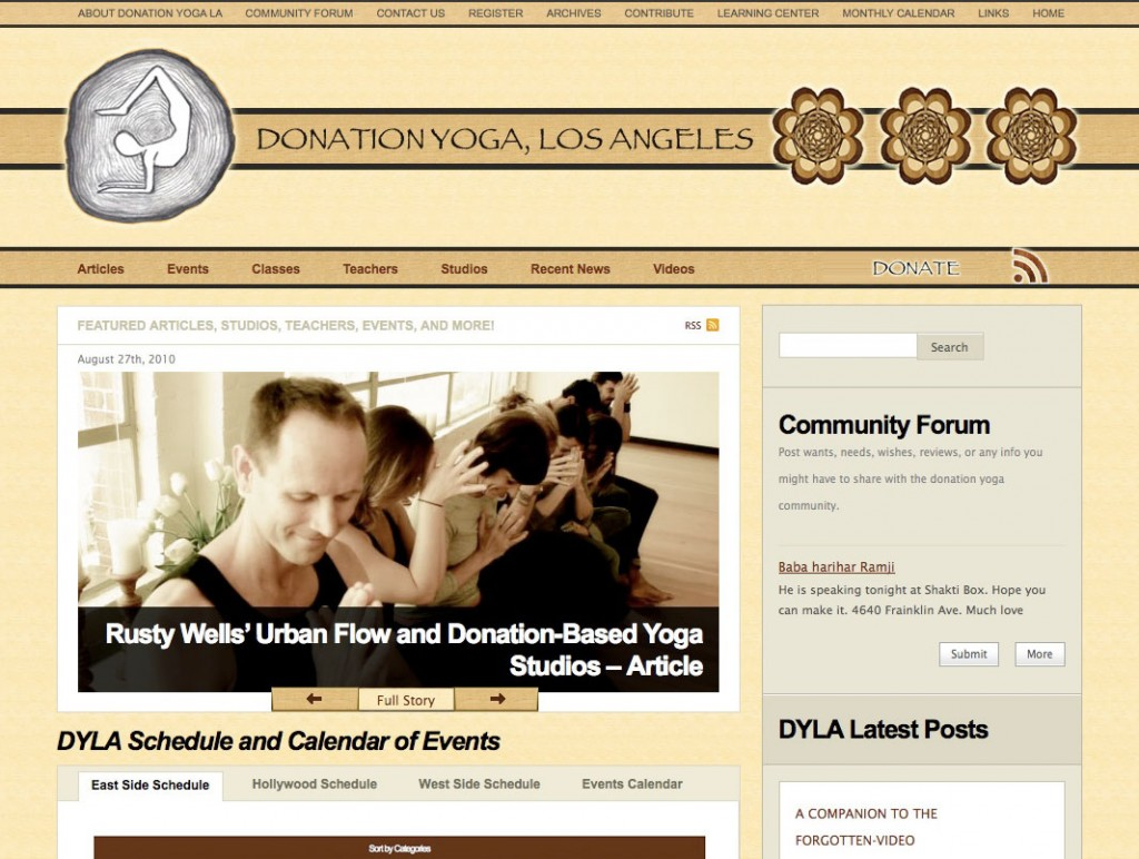 The Umbrella Agency - Recent Work (Donation Yoga Los Angeles)