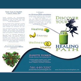 The Umbrella Agency, Los Angeles - Graphic Design, Discover Your Healing Path, Inc. Brochure