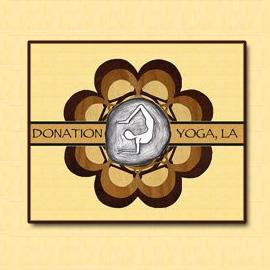 The Umbrella Agency, Los Angeles - Recent Graphic Design, Donation Yoga LA SM Buttons