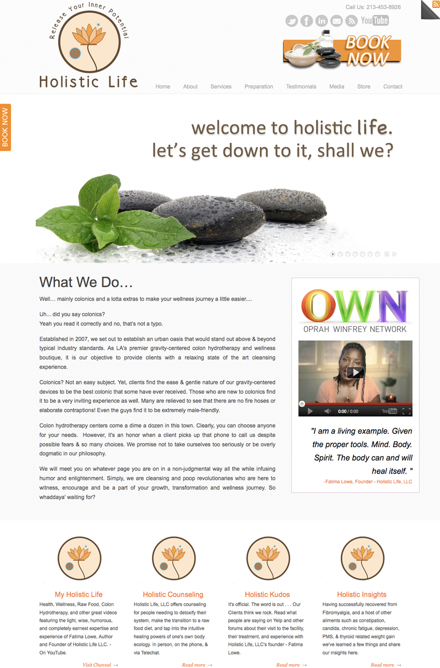 The Umbrella Agency - Recent Work (Holistic Life, LLC)