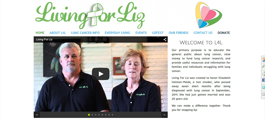 The Umbrella Agency - Recent Work | Fundraising Website, Living For Liz * Client Provided Logo *