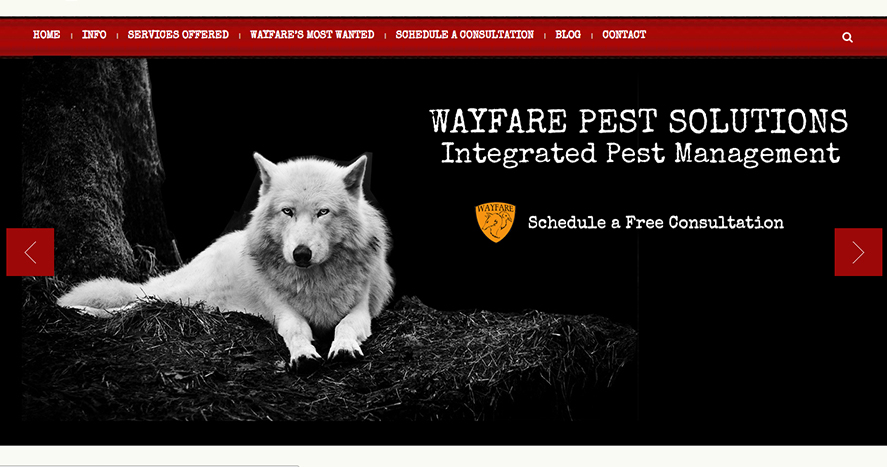 Wayfare Pest Solutions Web Screenshot